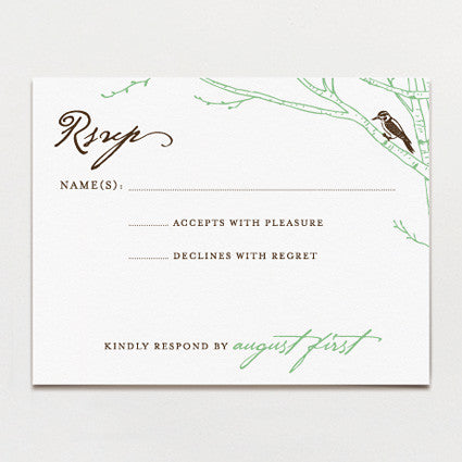 Carved Initials Response Card
