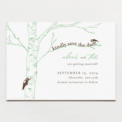 Carved Initials Save The Date