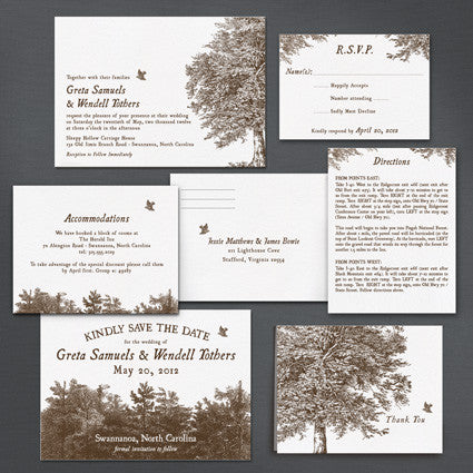 Chestnut Wedding Invitation
