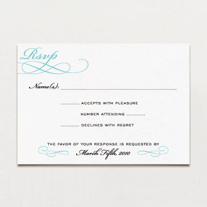 Classic Calligraphy Response Card