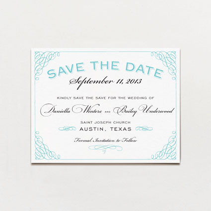Classic Calligraphy Save The Date Postcard