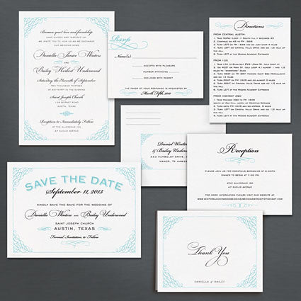 Classic Calligraphy Save The Date