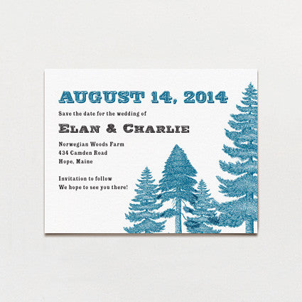 Deep In The Pines Save The Date Postcard