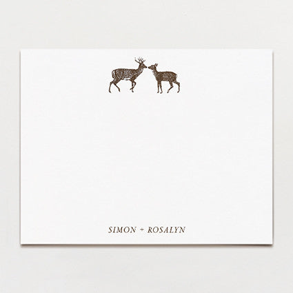 Deer Love Personalized Note Card