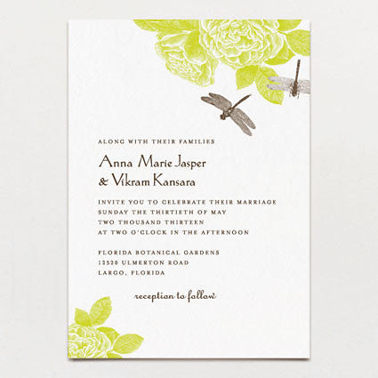 Dragonflies Wedding Invitation