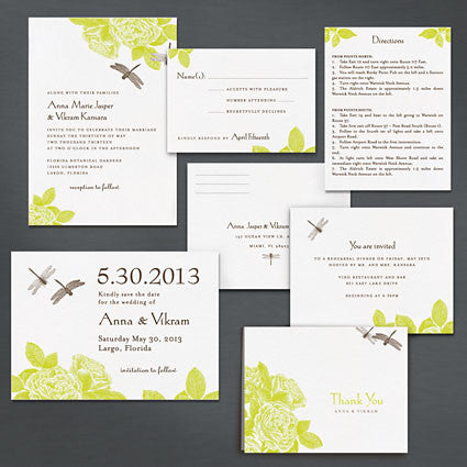 Dragonflies Save The Date Postcard