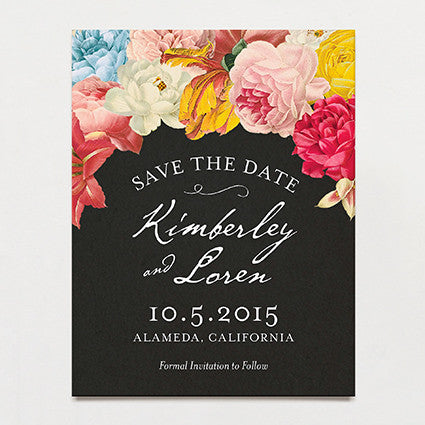 Dramatique Save The Date Postcard