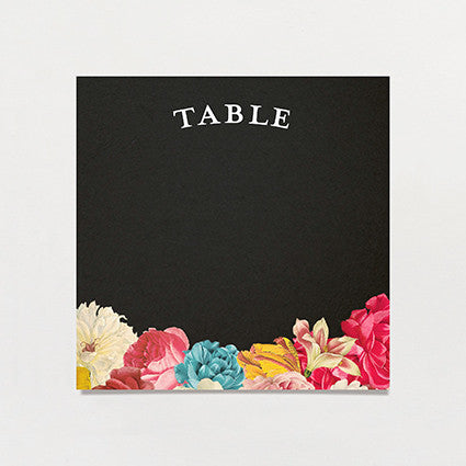 Dramatique Table Number