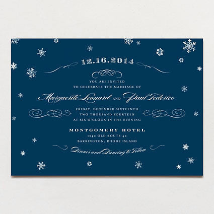 Elegant Snow Wedding Invitation