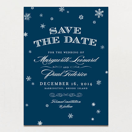 Elegant Snow Save The Date