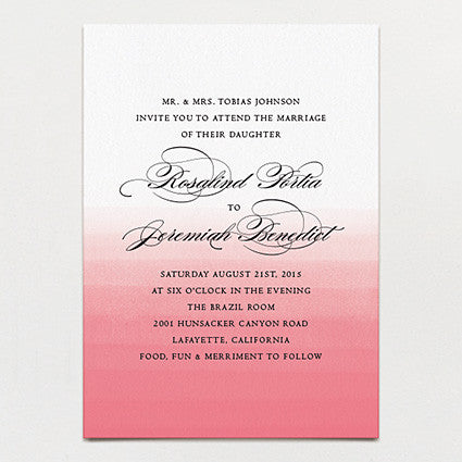 Elegant Ombre Wedding Invitation