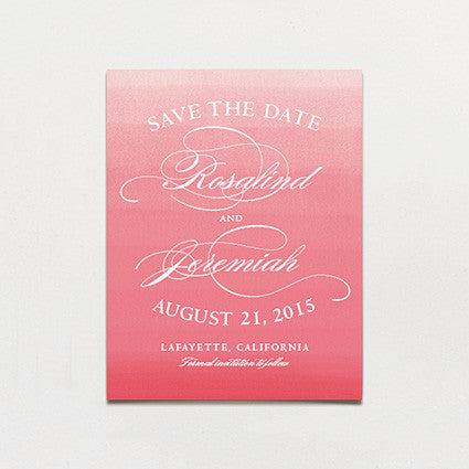 Elegant Ombre Save The Date Postcard