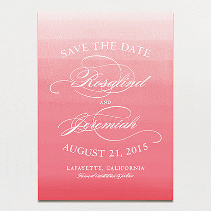 Elegant Ombre Save The Date