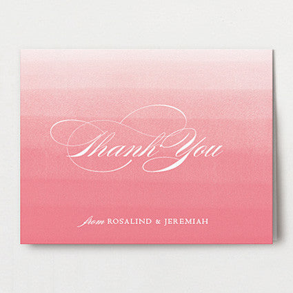Elegant Ombre Thank You Folded