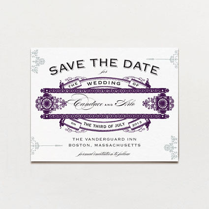 Extravaganza Save The Date Postcard