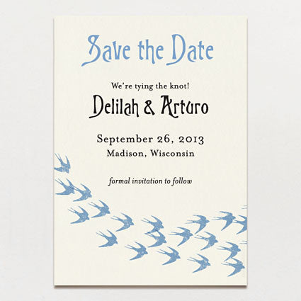 Flock of Swallows Save The Date
