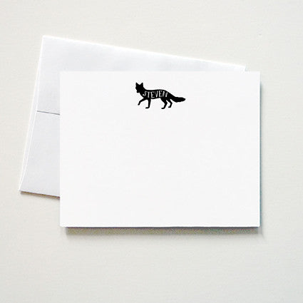 Foxy Personalized Note Card