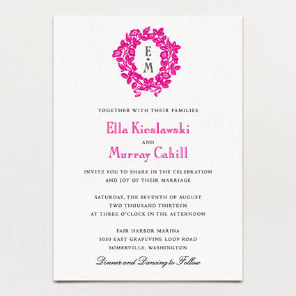 Garland Wedding Invitation