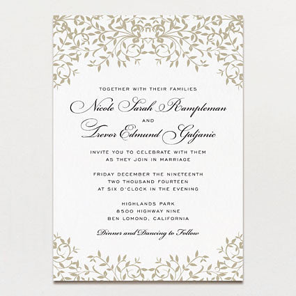 Gothic Forest Modern Wedding Invitation