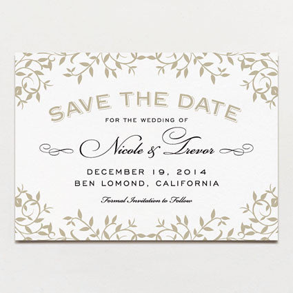 Gothic Forest Modern Save The Date
