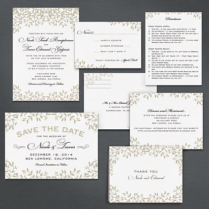 Gothic Forest Modern Save The Date Postcard