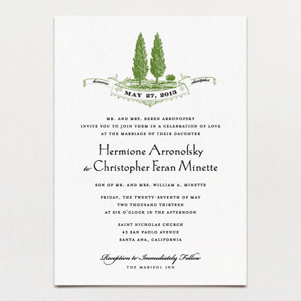 Growing Together Wedding Invitation