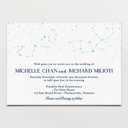 In The Stars Wedding Invitation
