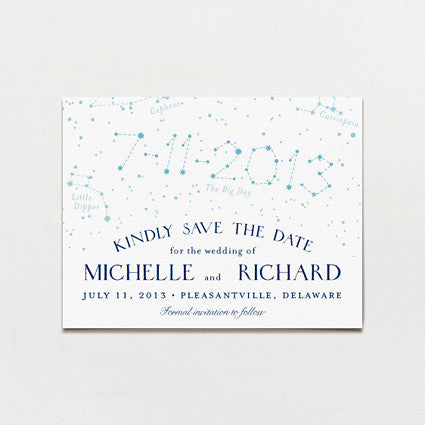 In The Stars Save The Date Postcard