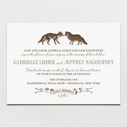 Kindred Spirits Wedding Invitation