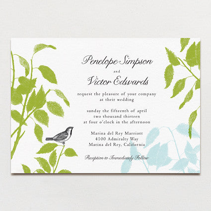 Laurel Leaves Wedding Invitation