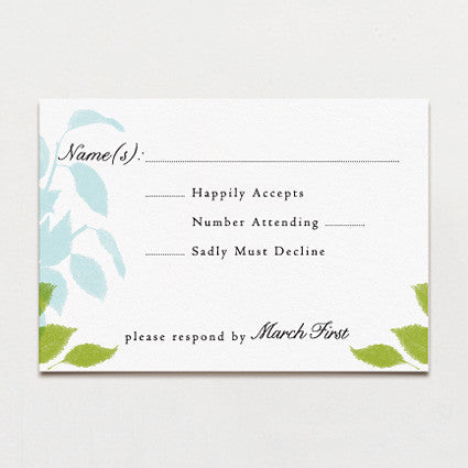 Laurel Leaves Response Card