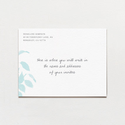 Laurel Leaves Save The Date Postcard