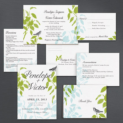 Laurel Leaves Save The Date