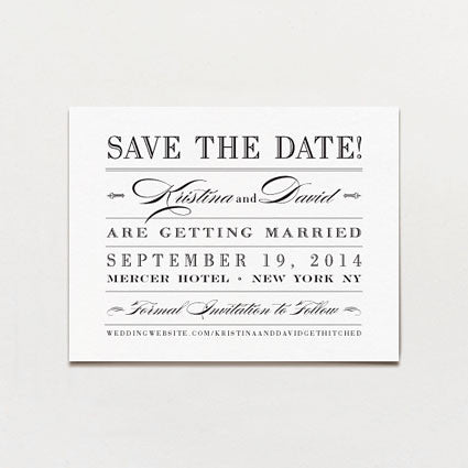 Metropolitan Save The Date Postcard