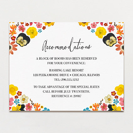 Pattern Petal Insert Card