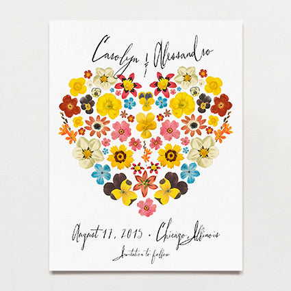 Pattern Petal Save The Date Postcard