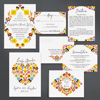 Pattern Petal Save The Date