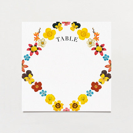 Pattern Petal Table Number