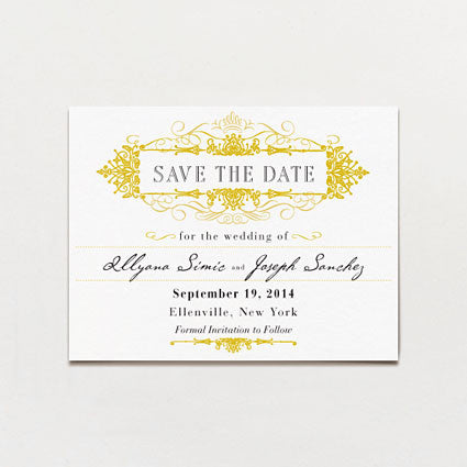 Regency Save The Date Postcard