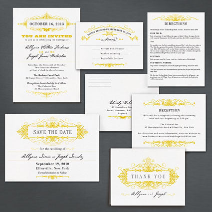 Regency Wedding Invitation