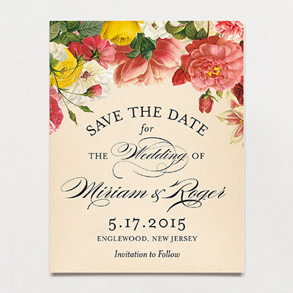 Romantique Save The Date Postcard