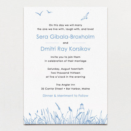 Seagrass Wedding Invitation