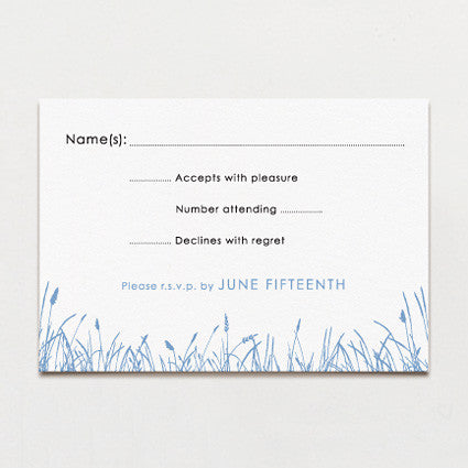 Seagrass Response Card