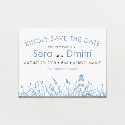 Seagrass Save The Date Postcard