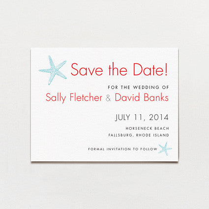 Sea Stars Save The Date Postcard