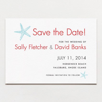 Sea Stars Save The Date
