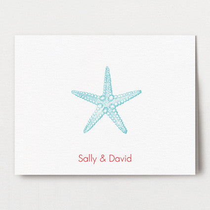 Sea Stars thank you folded