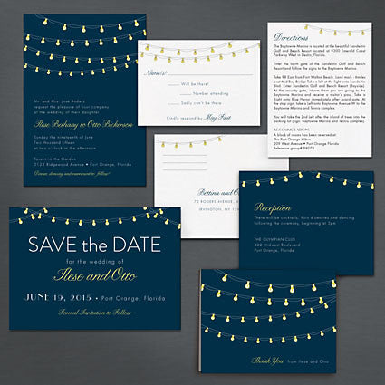 Shining Night Wedding Invitation