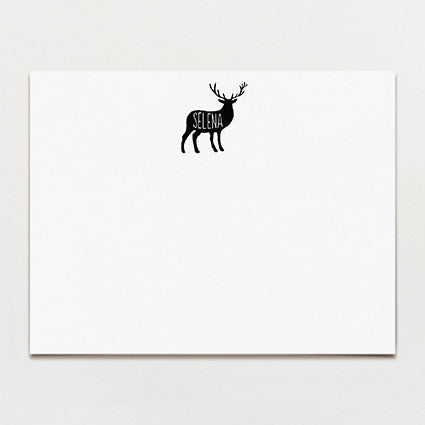 Stag Personalized Note Card