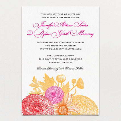 Summer Tones Wedding Invitation